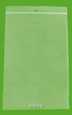 6x9 Clear Reclosable Plastic Poly Zip Lock Bags with Hang Hole 4 Mil 4000 Pieces