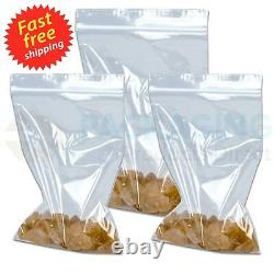 7.5 x 7.5 Grip Seal Clear Airport Travel Security Liquid Bags Poly Plastic