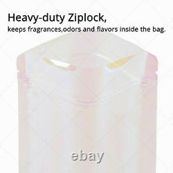 7.75x11.5in Glossy Pink Clear Plastic Mylar Standup Zip Lock Pouch Bag withMachine