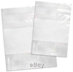 7000 pcs 6 x 8 Zipper Zip Lock Plastic Packing 2 Mil White Block Bags