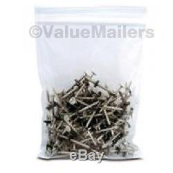 8000 6x10 Clear Plastic Zipper Poly Locking Reclosable Bags 2 MiL