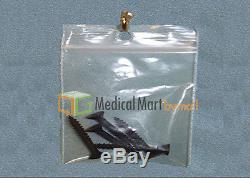8000 pcs Clear Plastic Pharmacy Bags 4 Mil with Hang Hole 6x9