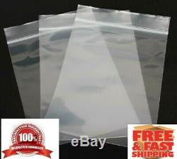 8x10'' Zip Lock 2Mil Reclosable Clear Plastic Bags