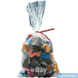 9x24 2 Mil Clear Flat Food Grade Plastic Poly Bags 1000