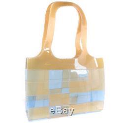 AUTHENTIC CHANEL Plastics tote Tote Bag beige/clear Plastics Women