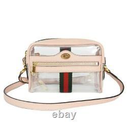 AUTHENTIC GUCCI Clear Plastics Mini Bag 517350 9YKBG 8934 Shoulder Bag Cro