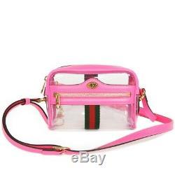 AUTHENTIC GUCCI Clear Plastics Mini Bag 517350 9YKBG 8937 Shoulder Bag Cro