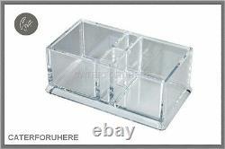 Acrylic Plastic Clear Sachet Tea T Bag Holder Condiment Holder Box Caddy Sauce