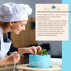 Airbrush Cake Decorating Kit machine 16 Food Colours, Bag, Pot Paint a Cake UK