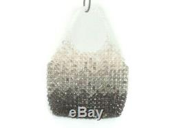 Auth ANTEPRIMA Clear Brown DarkBrown Plastic Tote Bag
