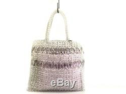 Auth ANTEPRIMA Clear Pink Plastic Leather Tote Bag