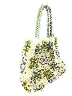Auth ANTEPRIMA Clear Purple Multi Plastic Tote Bag