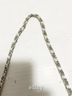Auth ANTEPRIMA Cristallo Fiocco LightGray Silver Clear Satin Wire Plastic