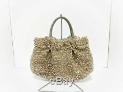 Auth ANTEPRIMA Wire Bag Beige Silver Clear Wire Plastic Tote Bag