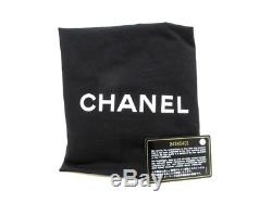 Auth CHANEL A94646 Black Green Clear Tweeds Plastic Tote Bag