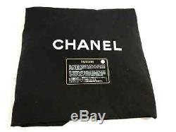 Auth CHANEL Black Green Clear Tweeds Plastic Tote Bag Robot Glitter Rhinestones