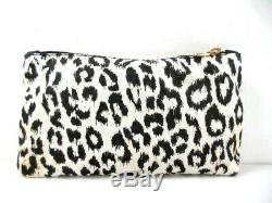 Auth Charlotte Olympia Pandora Clear Gold Black Plastic Hardware Clutch Bag