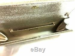 Auth JIMMY CHOO Clear Gold Silver Plastic Shoulder Bag
