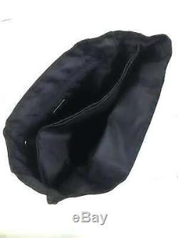 Auth PRADA Black Clear Nylon Plastic Handbag