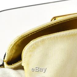 Auth Salvatore Ferragamo Gancini Chain Shoulder Bag Black Plastic GHW JT07030