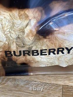 Authentic Burberry Vintage Amber Cow Print Transparent Vinyl Tote Chic Bag
