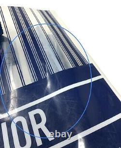 Authentic Christian Dior Logo Book Tote Plastic Bag Clear Bag Dark Blue White