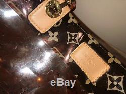 Authentic Louis Vuitton LV Monogram Cabas Ambre Vinyl Clear Plastic tote bag