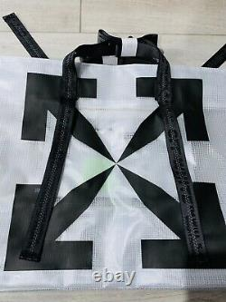 BRAND NEW WithTAGS OFF-WHITE TOTE BAG WHT/BLACK TRANSPARENT CLEAR supreme duffle