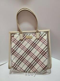 BURBERRY Blue Label Japan clear plastic tote bag travel bag