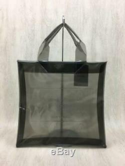 Beautiful people Tote Bag Pvc Blk Clear Embossed Plastic Name Tag 0938