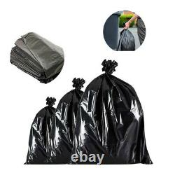 Black Bin Liners Refuse Bags Sacks Food Waste Rubbish Kitchen Clean All Purpose