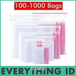 Bulk Resealable Zip Lock Clear Plastic Bags Small Medium Large Ziplock Wholesale