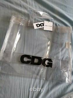 CDG comme des garçons transparent PVC plastic Tote Shopper Bag Clear one size