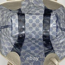 CELINE Macadam Pattern Tote Bag Hand Bag clear back total pattern logo Tote