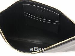 CELINE tote bag plastic clear back clutch leather solo black 471 85029