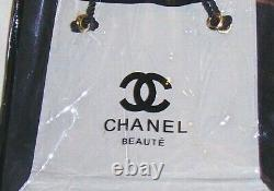 CHANEL BLACK CLEAR TOTE women VIP BEAUTE PURSE HANDBAG MAKE-UP COSMETIC GIFT BAG