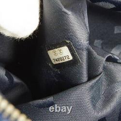 CHANEL CC Plastic Chain Hand Tote Bag 7409272 Purse Indigo Clear Denim 31563