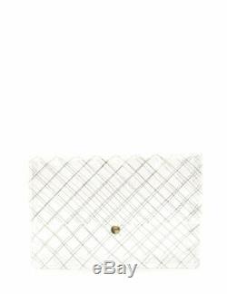 CHANEL MATELASSE clutch bag plastic clear gold novelty