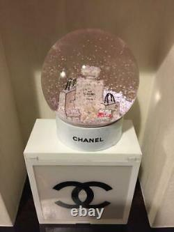CHANEL Snowdome clear Xmas Bags Object Gift Plastic White