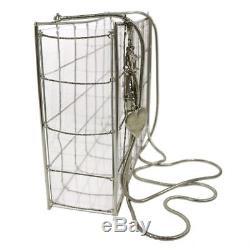 CHANEL plastic shoulder bag clear AK16553i