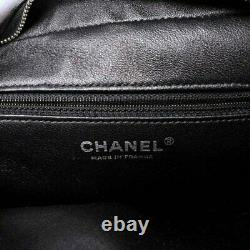 CHANEL tweed leather plastic clear chain tote bag multi-color tweed #BR273