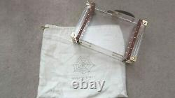 CHARLOTTE OLYMPIA Clear Perspex Leather Handle Box Clutch Bag