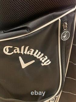 Callaway Xtt Golf Stand Bag Celebrity Pro-am Blk/red/wht With Cover Exc. Clean