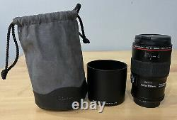 Canon EF 100mm F/2.8L Macro IS USM Lens Clean with Bag Extras
