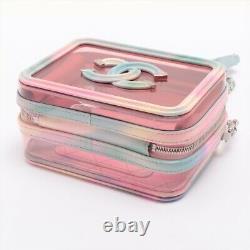 Chanel CC Filigree Plastics 2WAYShoulder Bag Clear Multica