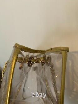 Chanel PVC clear plastic transparent tote handbag bag not a double flap