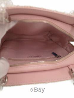 Chanel tweed clear plastic chain shoulder bag ladies #AH075