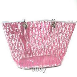 Christian Dior Trotter Plastic Bags Handbag Vinyl Razor Women'S Clear No. 9895