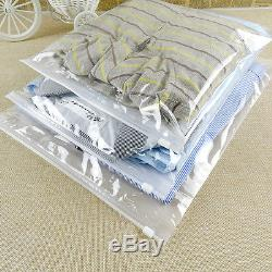Clear Matte Zip lock Plastic Packing Bags for Clothes Underwear Storage Reusable