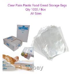 Clear Plain Polythene Food Grade Plastic Bags